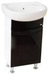 Мебель для ванной. Модель Валенсия черная с умывальником Solo 40 , Solo 50 (Kolo) . Серия Валенсия