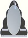 зеркало в ванную комнату. Модель Jula 6(6.1)