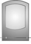 зеркало в ванную комнату. Модель КН-1-1(2.0)